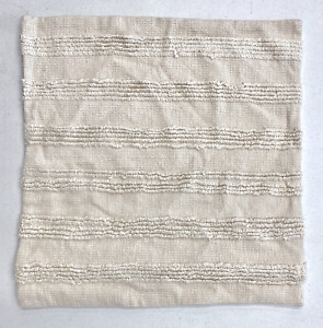 """NEW Pottery Barn Damia Handwoven Textured 22 x 22"""" Pillow Cover~Ivory Multi"""