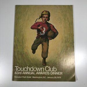 Touchdown Club 1978 Program Signed Red Miller Jim Crowley Earl Schreiber