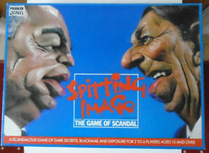 VINTAGE SPITTING IMAGE THE GAME OF SCANDAL BOARD GAME - COMPLETE - V.G.C.