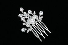 Bridal Wedding Crystal Rhinestone Tiara Side Comb VC23