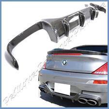 Fit 06-10 E63 E64 M6 Bumper Carbon Fiber V Style Front Lip + Rear Diffuser Combo
