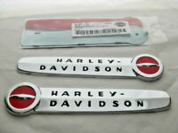 Harley Davidson 1947-1950 Style Tankembleme Tankschilder + Adapter Kit 61769-47T