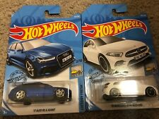 17 Audi RS 6 Avant Blue And A Class Mercedes Benz White
