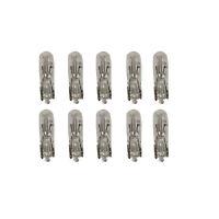 10 x 286 DASHBOARD SMALL CAPLESS WEDGE  12V 1.2W DASH PANEL LIGHT BULBS