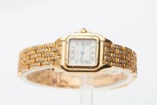 $20,000 6ct VS H Diamond CARTIER PANTHER 107000 18k Yellow Gold Ladies Watch BOX