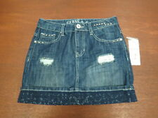 GUESS Girls' Youth Demin Skirt Studded & Laced sz 12