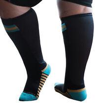 dd6089035e Xpandasox Plus Size/Lymphedema Socks, 24 inches at Calf, Black turq size 10