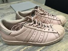Pink Rose Gold Adidas Superstar Trainers UK 6 EUR 39.5