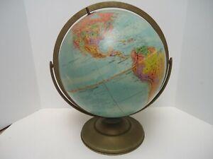 "Vintage 12"" Replogle Globe 1960s Stereo Relief Mid Century Decor Retro"