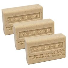 French Soap-Traditional Savon de Marseille-3 x 125g - Vanilla Gousse-Shea Butter