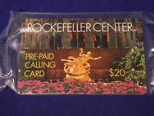 $20 -The Rockefeller Center Pre-Paid Calling Card  Sealed in original packaging!