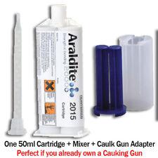 Araldite 2015 Toughened Epoxy Gel for SMC,GRP,Fiberglass-50ml + Caulk Gun Adptr