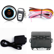 Car Alarm System Security Vibration Alarm Ignition Engine Start Button Remote