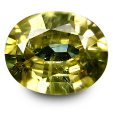 2.05Cts 100% Natural Hi Grade Gem Yellow Zircon Lustrous Oval From Cambodia