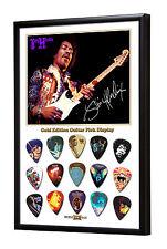Jimi Hendrix B limitata a 50 incorniciato GOLD 15 Picks per chitarra di prelievo di visualizzazione