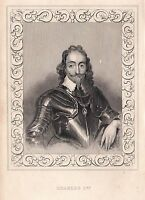 1840 Vittoriano Stampa ~ Ritratto Di Charles I