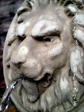 Brunnenfigur Wasserspeier LÖWE  Löwenkopf Steinfigur Relief  Wandrelief NEU
