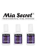 MIA SECRETNailGlue Brush Black,withCalcium & Vitam E (PRICE EA) Black Brush.