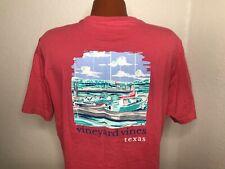 Mens vineyard vines S/S Crewneck T-Shirt Size Medium (M) Texas - Pink - Whale