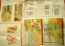 Italy 1946 Fratelli Reguitti furniture original catalogue & price list PRINTS