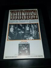 Thunder She's So Fine Rare Original Radio Promo Poster Ad Framed!
