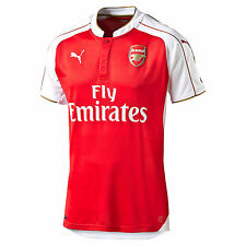 Puma Arsenal Fc 2015 - 2016 Home Soccer Jersey Brand New Red / White