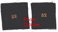 Chiffre 52 brodé or sur fond de velours noir - Ecussons de col d'Officier