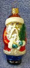 1995 Merck Family'S Old World Christmas Ornament #4051 Frontier Santa W/Star Cap