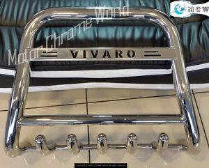 VAUXHALL OPEL VIVARO CHROME AXLE NUDGE BULL BAR 2015-2019 HIGH ENGRAVED LOGO NEW