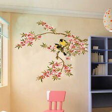 Top Wall Stickers Flower Tree Birds Art Decor Pvc Removable Decals Home Kitchen