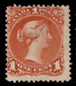 #22 Large Queen 1c Canada mint no gum