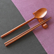 Wood Spoon Chopsticks Set Japaness Sushi Noodle Natural Lacquer Korean Brand