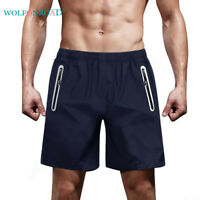 Quick Dry Reflective Zipper Pocket Shorts Mens Fun Run Workout Shorts Half Pants