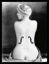 MAN Ray le violon dingres, 1924 poster stampa d'arte nel quadro in alluminio nero 80x60cm
