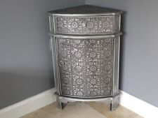 1 Door 1 Drawer Embossed Corner Cabinet French Vintage Side Storage Cupboard New