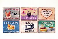 Vintage Sign Rustic Picture Painting Kitchen Eggs Cake Dolls House Miniature