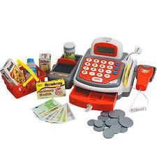 Spielkasse mit Scanner Mikrofon Kaufladen Kasse Kinder Supermarktkasse Rechner