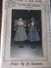 "NEVER A DULL NEEDLE SEWING CRAFT  PATTERN GLORIA AND JESEBEL 27"" DOLL ANGELS"