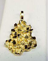 14k Yellow Gold Nugget Design Fashion Charm Pendant 10 Grams