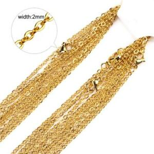 20pcs Wholesale Stainless Steel Gold Tone Necklace for DIY Jewelry Chains