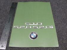 Vintage BMW 518 520 520i Dealer Sales Brochure 1976