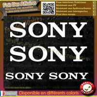 4 Stickers Autocollant Sony sponsor lot planche sticker car audio sono tuning
