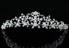 Bridal Wedding Flower Tiara use Swarovski Crystal AT1470
