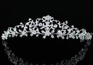 Bridal Wedding Flower Tiara use Swarovski Crystal AT1470
