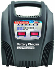 Streetwize 15 Amp Automatic Trickle Car Motorbike Motorhome 12V Battery Charger