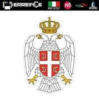 Sticker SERBIA Adesivo Parete Souvenir Decal Laptop Casco Auto Moto Mural
