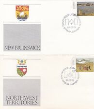 Canada 1984 12 First Day Covers Provincial Landscapes