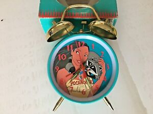 Vintage Pocahontas Wind-Up Double Bell Alarm Clock Walt Disney New in Box