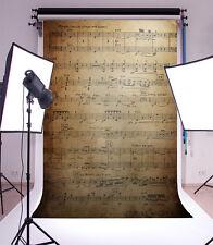 5x7ft Retro notes rhythm Background Backdrop Studio Vinyl Props Photography