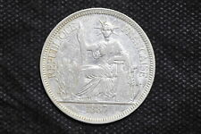 French Indo-china 1887A Piastre Silver Coin ( Weight : 27.01 g ) C125